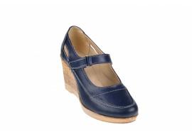 Oferta marimea 37 Pantofi dama cu platforma din piele naturala, foarte comozi - LP9154BLM