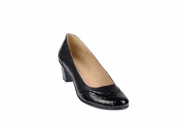Pantofi dama comozi si eleganti, din piele naturala, P104CROCON