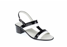 Oferta marimea 38 Sandale dama din piele naturala cu toc de 5cm - LS7AN