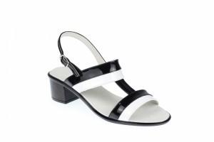 Sandale dama din piele naturala cu toc de 5cm - S7AN