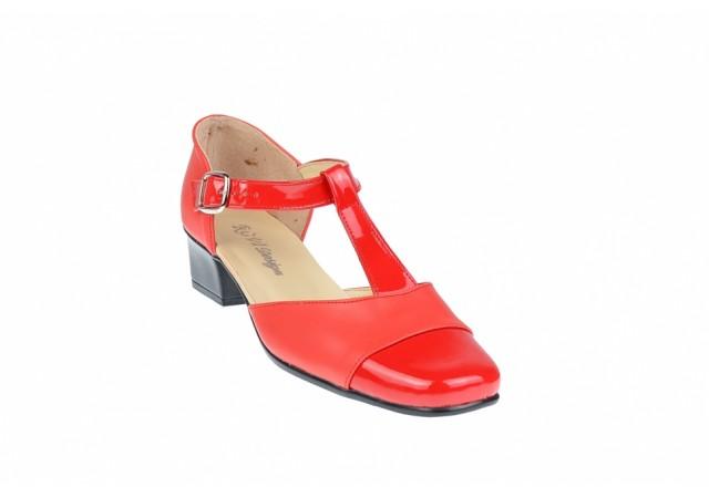 Pantofi dama piele naturala cu varf lacuit - eleganti S1RR
