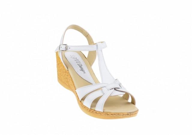 Sandale dama din piele naturala cu platforme - S51A
