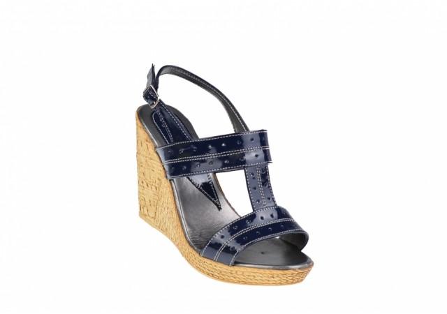 Oferta marimea 38 Sandale dama din piele naturala cu platforma de 10 cm LS300LACBL