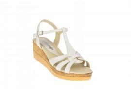 Oferta marimea 39 Sandale dama din piele naturala cu platforme - LS51BEJ2
