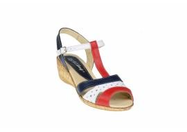 Sandale dama din piele naturala cu platforme de 7 cm - S40RABL