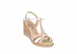 Oferta marimea 39 Sandale dama din piele naturala, cu platforma - LS51BEJA