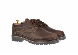 Pantofi barbati casual din piele naturala maro, model toamna, iarna - MARK3M