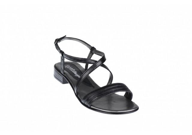 Oferta marimea 37 Sandale dama din piele naturala cu platforma joasa - cod LS8N