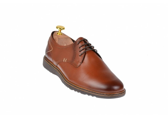 Pantofi barbati casual, sport din piele naturala maro - SIR135M