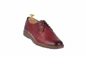 Pantofi barbati casual din piele naturala bordo - SIR135VIS