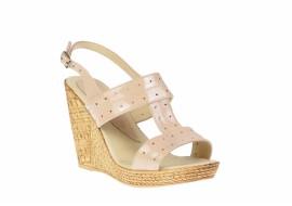 Sandale dama din piele naturala cu platforme de 10 cm S300BEJLAC