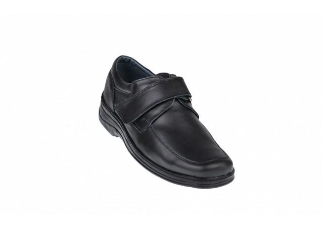 Pantofi barbati casual din piele naturala, inchidere cu scai - SCAI