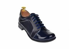 Pantofi dama piele naturala, casual bleumarin - Made in Romania P53LACBOXBL
