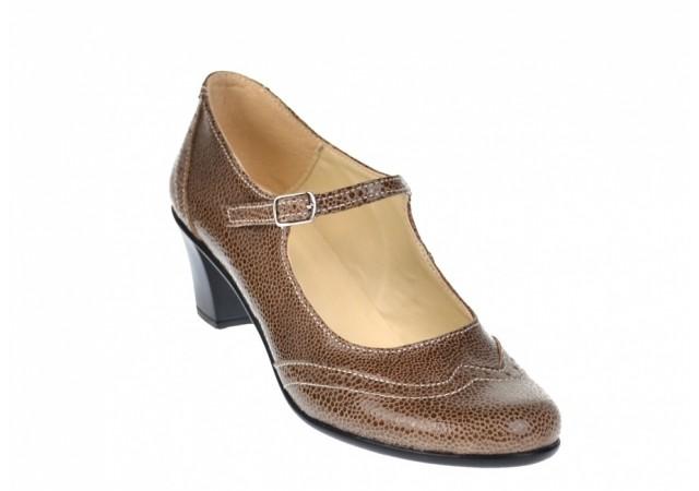 Pantofi dama, eleganti, din piele naturala cu toc 5cm - foarte comozi P104V2