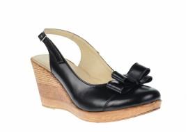 Pantofi dama din piele naturala, cu platforme de 7cm S100N
