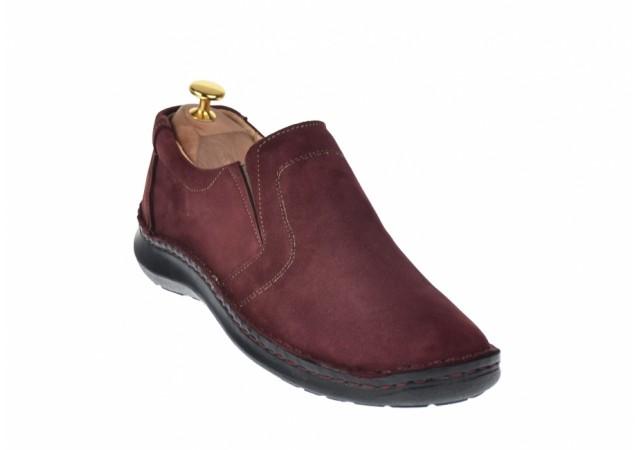 Pantofi barbati sport - casual din piele naturala intoarsa VIC2350VIS