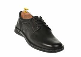 Oferta marimea 43 pantofi Casual Barbati din piele negri LVIC2231
