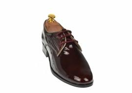 Oferta marimea 38 Pantofi dama casual din piele naturala lacuita cu siret LNA239