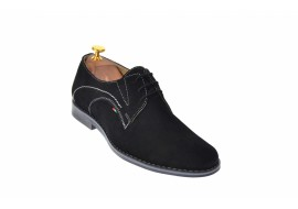 Marimea 44 Pantofi barbati eleganti din piele naturala, intoarsa Massimo, Dyany Shoes - 925NVEL