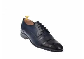 Pantofi barbati eleganti din piele naturala bleumarin, Zamora Dyany Shoes - 745BLM