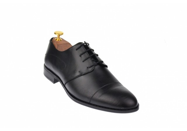 Oferta marimea 40, 41, 43 Pantofi barbati eleganti din piele naturala - Massimo Negru L588N