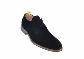 Oferta marimea 40 Pantofi barbati eleganti din piele naturala intoarsa neagra LNIC184NVEL