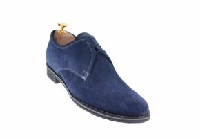 Oferta marimea 41, 42, pantofi barbati casual din piele naturala, culoare bleumarin L336BLM