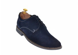 Oferta marimea 39, 42 Pantofi barbati casual - eleganti din piele naturala intoarsa bleumarin - LPAVELBLM2