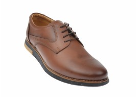 Oferta marimea 41 Pantofi barbati casual din piele naturala maro - LUCYANIS L1010MDBOX