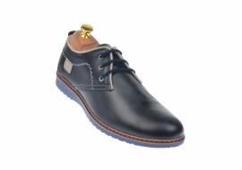 Marimea 42 Pantofi barbati sport - casual din piele naturala bleumarin - LTENSPORT2017BLM