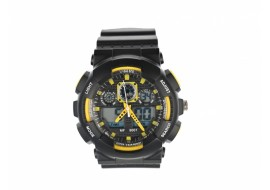 Ceas de mana barbati sport analog negru cu galben - MF9001T
