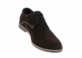 Oferta marimea 43 Pantofi barbati casual din piele naturala intoarsa, de culoare maro - LVELM