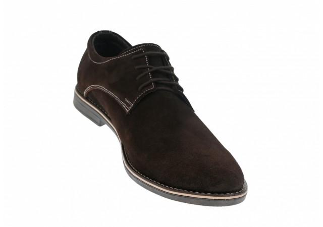 Oferta marimea 43 Pantofi barbati casual - eleganti din piele natural intoarsa LVELM