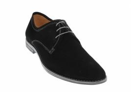 Pantofi barbati casual din piele naturala intoarsa, culoare neagra 336NVEL