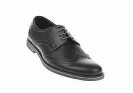 Oferta marimea 39, 40 Pantofi barbati casual din piele naturala box, negru - L500N