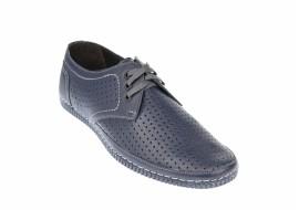 Oferta marimea 41 Pantofi barbati sport - casual din piele naturala  LUCAS - 392BLUE