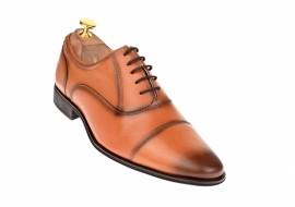 Oferta marimea 40 Pantofi barbati eleganti din piele naturala maro BRUNO - L347CON