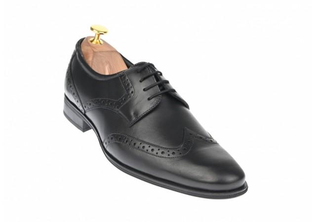 Oferta marimea 39, 41 Pantofi barbati eleganti din piele naturala model OXFORD L369N