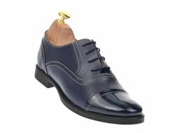 Pantofi dama bleumarin casual din piele naturala - P293BL