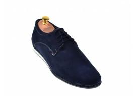 Pantofi barbati sport, casual din piele naturala bleumarin TENALBASTRUVEL