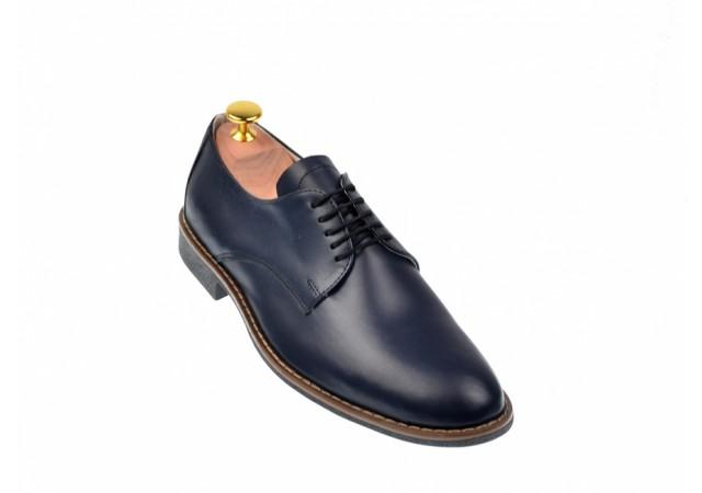 Pantofi barbati casual - eleganti din piele naturala - NIC184BLBOX