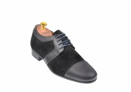 Pantofi negri barbati casual - eleganti din piele naturala - 1006GRI