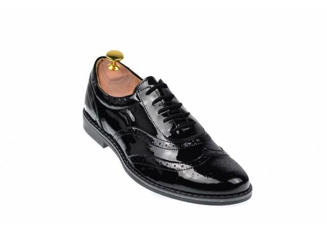 Pantofi barbati oxford - eleganti din piele naturala 870NLAC