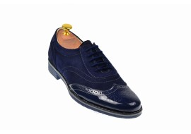 Pantofi barbati oxford - eleganti din piele naturala L870LVBLM