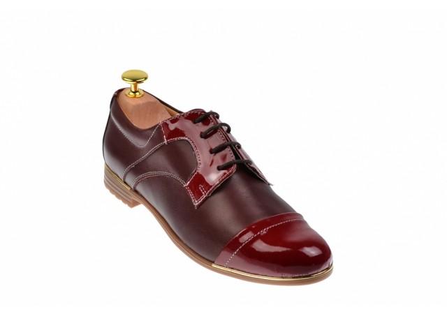 Pantofi dama casual visinii din piele naturala - RUTMODVV