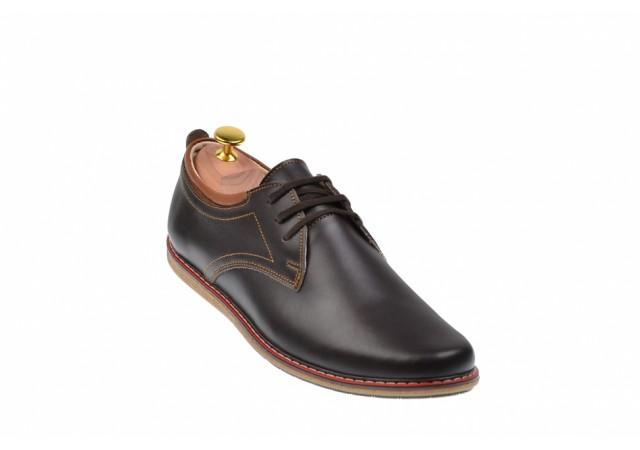 Pantofi casual - sport barbati din piele naturala maro TEN338MBOX