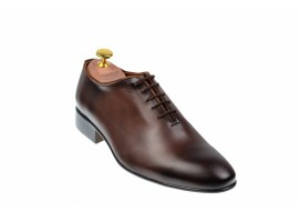 Pantofi barbati eleganti din piele naturala maro - cod 024MBOX