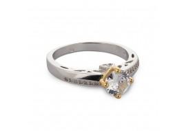 Inel argint Adele cu zirconii albe, marime 53