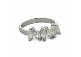 Inel argint cu zirconii ovale, marime 54