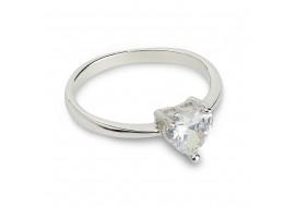 Inel argint glittering heart, marime 51